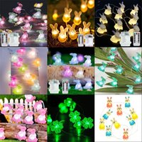 Easter Bunny Modeling Lamp String LED Outdoor Waterproof Copper Wire Lamp String Easter Decor Lantern Festive Party Supplies