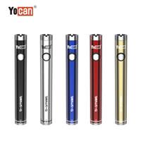 100% originale yocan B-smart batteria 320mAh sottile Twist Preheat VV Bottom Tensione regolabile EG 510 VAPE Pen 50pcs Una scatola di visualizzazione