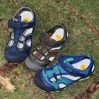 샌들 Uovo 2021 도착 소년 어린이 조금과 큰 스포츠 아이들 여름 신발을위한 발가락을 닫습니다 EUR 크기 25-35