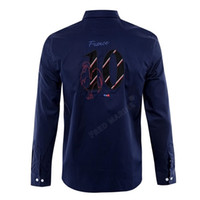 french brand design park shirts men' s embroidery long s...