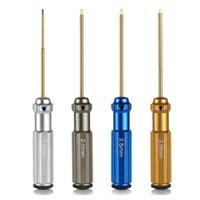 Профессиональные наборы ручного инструмента наборы 4 шт. Гексагональные отвертки Установите модель Ремонт с цветной ручкой Совместимый 1,5 / 2 / 2,5 / 3 мм винты