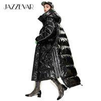 Jazzevar 2020 Kış Yeni Varış Kadın Aşağı Ceket Giyim Kalite Gevşek Giyim Moda Stil Uzun Kış Ceket Kadın Y9047 C1204