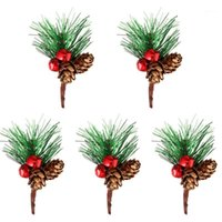Delicate Christmas Artificial Pine Picks Pinecone Branch Dec...
