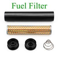 Yeni Araba Yakıt Filtresi Solvent Tuzağı 10 inç 1/2-28 Napa 4003 Wix 24003 Için Alüminyum Yakıt Filtresi 1/2x28 Filtro Napa 1/2 28 5/8-24 Solvent Tuzağı