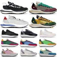 2021 NOUVEAU Vaporwaffle LD Waffle Running Shoes Hommes Femmes Fashion Sneakers Noir Blanc Sail Jeu Royal Villain Red Nylon En Nylon En Nylon Extérieur Mensteur
