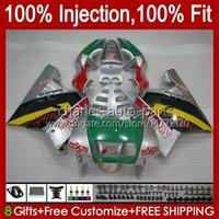Injektion für Honda NSR250R MC28 PGM4 94 95 96 97 98 99 102HC.29 NSR 250 R 250R NSR250 R 1994 1996 1996 1998 1999 Verkleidung silbrig grün