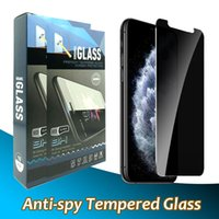 خصوصية مكافحة جاسوس واقي شاشة زجاجي مقاوم لاجهزة ايفون 12 11 برو ماكس XR XS X 6 7 8 زائد مع حزمة البيع بالتجزئة