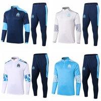أعلى 20 21 Olympique de Marseille Benedetto Soccer Bracksuit المسار الدعاوى سترة 2020 2021 Payet Thauvin Chandal التدريب الدعاوى الرياضية ارتداء