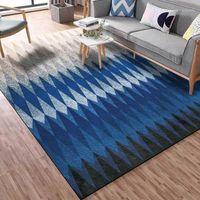 북유럽 미니멀리스트 지역 깔개 기하학적 그라데이션 블랙 그레이 블루 주방 거실 카펫 침실 침대 옆 미끄럼 바닥 마츠 1
