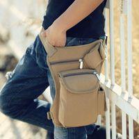 حديثا الرجال النساء إسقاط حقيبة الساق قماش متعدد جيب الدراجات الخصر الحقيبة الرياضية الرياضية حقائب dod886