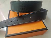 2021 El cinturón de los hombres es de moda y suave cuero de piel de vaca con letra H Cinturones Hombre C 18110103 A