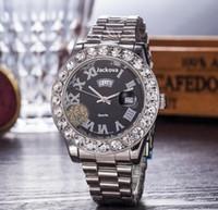 Moda uomo Donne Diamond Wathes Iced Out Top Designer Movimento al quarzo Uomini e signora orologio in acciaio inox tavolo orologio