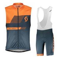 2020 scott pro team radfahren jersey männer fahrrad kleidung tour de frankreich atmungsaktive schnelle trockene ärmellose fahrrad kleidung ropa ciclismo y032110