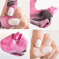 4Colors 10 stücke U-Form Spill-Proof Fingerabdeckung Nagellack Lack Beschützer Halter Mode Heiß