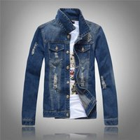 New Autumn Denim Giacca Giacca uomo solido Cowboy Molla Casual Slim Bomber Giacca maschile Jean Mens Cappotti e giacche Outwear Plus Size 5XL