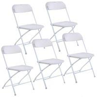 Neue Kunststoff-Klappstühle Hochzeits-Party-Event-Stuhl kommerzielles Weiß