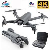 Drones SealandAir Drone 4K 16MP Piksel FPV WIFI RC Quadcopter Gerçek Zamanlı Video Optik Akış Katlanabilir Kamera HD Quadrocopter Oyuncak