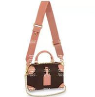 2021 حار بيع أكياس النساء مصممين حمل حقائب جلدية جلدية محافظ مصمم سيدة حقيبة crossbody حقيبة الوردي والأسود اللون