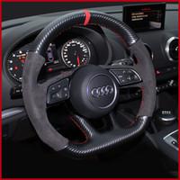 Подходит для Audi Рулевое колесо Кожаная Рука Сешин A3 A4L A5 A6L A8 Q2LQ3 Q5 Q7