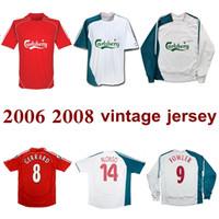 2006 2008 Gerrard Fowler Alonso Kuyt Riise Retro Soccer Jersey Home Away 2007 Carragher Mascherano Vintage Classic Football Shirt