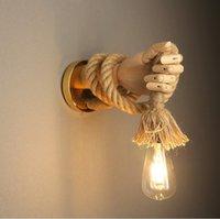Retro Stile Industriale Stile Industriale Lampada da parete Lampada da parete Semplice Lampada da parete creativa a forma di mano Corridor Aisle Indoor E27 Vanity Light