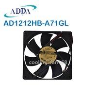 ADDA 팬 AD1212HB-A71GL 냉각 팬 DC 12V 0.37A 87CFM 2-WIRES 120 * 120 * 25mm 12cm CPU / 서버 팬