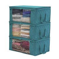 퀼트 스토리지 가방 접이식 먼지 습기 증거 옷 가방 상자 2 컬러 홈 주최자 바구니 바구니 고품질 지퍼 저장소 LLS187-WLL