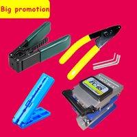 6 pçs / set FTTH Fibra óptica Kit de ferramentas de fibra Cleaver FC-6S Miller Braçadeira CFS-2 Fio Stripter Pilers Ferramenta de descascamento de trilho fixo