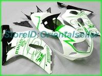Custom White Green AE046 Kit de Feira para Suzuki GSXR 600 750 K1 2001 2002 2003 GSXR600 GSXR750 01 02 03 Jogo de carestes de motocicleta