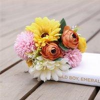 المصنعين مباشرة أقحوان الأفريقية الكوبية باقة الديكور المنزل محاكاة النبات عقد الزفاف وهمية الأوروبية الجدول الزهور