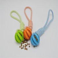 Собака кусает хлопок веревочка шар для собак кошек взаимодействие протекающие шарики домашние животные поставляют, что игрушки Zewingbite новая картина высокое качество 8dh m2