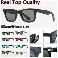 Designer Sonnenbrille Frauen Sonnenbrille Herren Sonnenbrille Reale UV-Schutz Glasgläser mit Ledertasche, sauberes Tuch Alle Einzelhandelspaket!