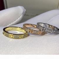 Amore da donna Anello Diamante ANELLO Full Diamond Rose Gold Gold Love Ring Ashi Fashion Charm Titanium Steel Ms. Eternal Starry Diamond Anelli anelli banda