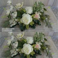 Gelin Düğün Masa Çiçek Restoran Simülasyon Beyaz Şakayık Gül Çiçek Düğün Fotoğraf Masa Çiçek Düğün Gelin Aksesuarları