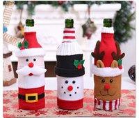 Sweater bonito da garrafa de vinho da camisola do Natal da camisola de vinho feito à mão da garrafa de vinho para decorações do partido das decorações do Natal