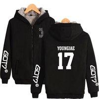 Winter got7 junge 17 kpop hoodie hoody männer frauen reißverschluss hoodies jacken haube sport long sleeve tasche mit kapuze schiedshirts tops