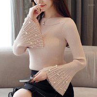 Flare Long Sleeve Women Tops Pullover sweater 2020 New Autum...