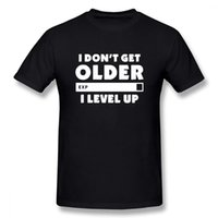 Mode je ne vieillit pas vieux je tiers t-shirt joueurs jeux cadeau d'anniversaire cadeau de Noël hommes femmes manches courtes ô coton t-shirts