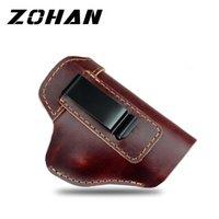 Zohan Revolver Holster Holster Cuir dissimulé Coque universelle de la cuisse universelle IWB pour Glock 22 17 19 M92 M9 Pistol