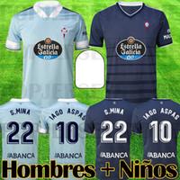 2020 2021 RC Celta de Vigo Jersey Soccer Jersey Lobotka Iago Aspas Santl Mina Chemise de football pour enfants Sisto Boufal Camiseta Futbol Top Qualité Kit