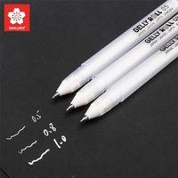 3 adet Jelly Rulo Klasik Sakura Jel Mürekkep Kalemler Parlak Beyaz Kalem Vurgulama İşaretleyiciler Renk Vurgulama Yazma Hediye 201222