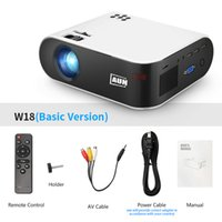 Aun Mini Projector W18 2800 Lumens 854X480P اختياري لاسلكي شاشة عرض للهاتف LED Proyector ل 1080P 3D Video Beasher