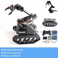Metal8dofvehicleroBOTPLATForm8-AxisroboticARMCAW + SmartCrawlertankChassis + WirelessControllerkitdiyforarduino201208