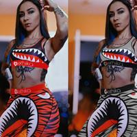 Ethika Gray y Orange 2020 Nueva Moda Dos Piezas Conjunto Mujeres Slim Bodycon Imprimir Tacks Traje 2 Piezas Playsuita1111
