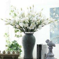 Декоративные цветы венки моделирования 7 головы Platycodon Grandiflorum искусственный китайский колокольчик дома украшения дома свадьба