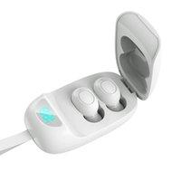 Best TWS JS25 Беспроводной Bluetooth Bluetooth 5.1 Earbud Stereo Sound Спортивные наушники Цифровой дисплей In-Ea Ухо Мини Наушники Бесплатная Доставка