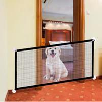 Pet Barrier Заборы Портативный Складной Собака Безопасная Охрана для внутреннего и наружного сетчатого Лестницы Окна Окна Заграждения Забор Забор Домашние животные Accssories