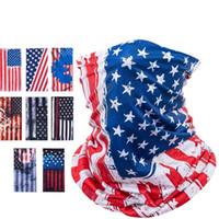 Maschera sportiva in bicicletta respiro protettiva viso maschera america bandiera maschere sciarpa bicicletta mezza faccia copertura design faccia scudo testa sciarpa cca12637