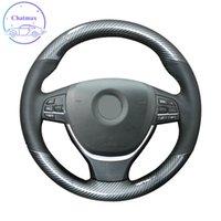 DIY Частный индивидуальный автомобиль Рулевая крышка рулевого колеса для BMW 5 серии F07 F10 F11 F18 2011-2016 Рука Швейная углеродная кожаная одежда Украшения