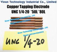 (5 шт. / Лот) UNC 1/4-20 Медный постукивающий электрод (длина резьбы 50 мм, общая длина 80 мм). Откипковый электрод Медь 1/4-20 unc Орбитал ¼ '' - 20